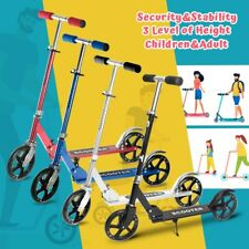 Folding Kick Scooter 4 Level Big Wheels Lightweight Outdoor Ride for Adult Kids