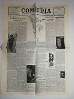 N1024 La Une Du Journal comoedia 16 septembre 1927 isadora duncan