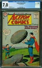 Action Comics #217 CGC 7.0 DC 1956 Amazing Super Baby Cover! RARE! L6 206 cm