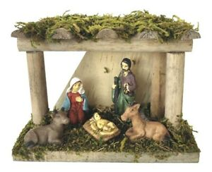 Nativity Stable Scene - Mini Christmas Display Traditional Festive Ornament