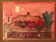 Papyrus - Valentine's Day greeting card Wife Couch Slippers - New in packaging