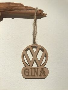 VW wooden Hanging Sign PERSONALISED cut Out Campervan Gift Gifts