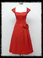 dress190 Rot Cocktailkleid Party Prom Ballkleid Abendkleid Brautjungfer Kleid 46