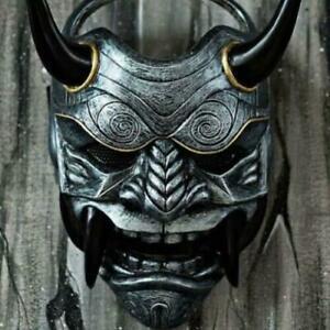 Japanese Demon Devil Hannya Oni Samurai Kabuki Monster Latex Mask Cosplay Props