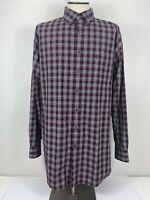 Wrangler George Strait Mens 2XLT Cowboy Cut Button Down Shirt Long Sleeve Plaid