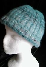 HANDSPUN, DYED, KNITTED MERINO WOOL HAT