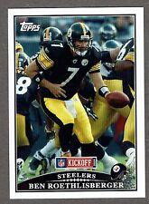 2009 Topps Kickoff Football #97 Ben Roethlisberger Pittsburgh Steelers NMT