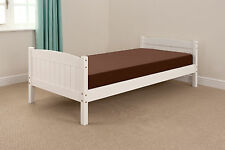 Single 3ft Wooden Bed Christopher WHITE & FREE DELIVERY