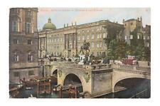 AK Berlin, Kurfürstenbrücke, Schloss , Ansichtskarte, Postkarte Stempel 1910