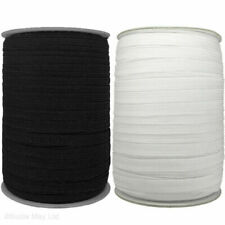Flat White & Black Elastic Cord 3mm 5mm 6mm Masks Sewing Dressmaking