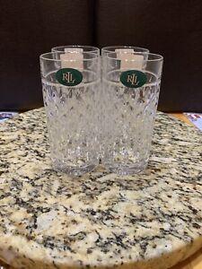 Ralph Lauren Aston 13.5 Oz. Highball Glasses Set of 4 New