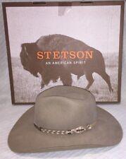 Men's Stetson 4XXXX Buffalo Felt Ridge 20 Stone 31/2 Inch Brim Cowboy Hat Size 7