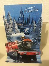 Hallmark Hogwarts Express Harry Potter 3-D Pop-Up Christmas Card