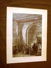 Medioevo d'Italia Giuramento di Pontida Lega Lombarda Incisione di L. Pogliaghi