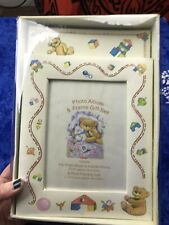 90'S Baby Photo Album And Frame Gift Set Vintage (H81)