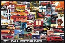 FORD MUSTANG 50th Anniversary Classic Car Ads Collage Muscle Car POSTER