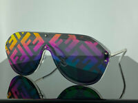 NEW Fendi FF M0039 F74R3 Fabulous Sunglasses Clear Silver Unisex 100% UV