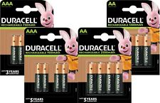 Duracell AA & AAA Rechargeable Batteries HR03 HR6 NiMH 1.2V Phone Camera