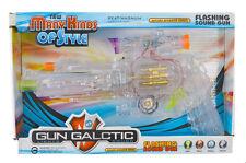 Kids Combat Flashing LED Light up Space Pistol Gun with Firing Sound  Gun Toy