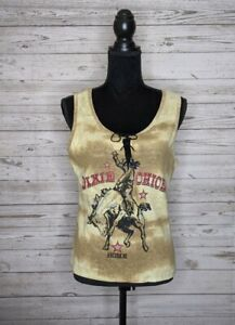 Vintage Dixie Chicks Home Western Tank Top Giant Tag Women's L USA Country