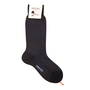 New BRESCIANI Italy Brown Cotton Socks