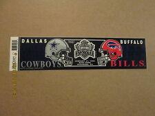 NFL Cowboys Bills SUPER BOWL XXVII Logo Bumper Sticker