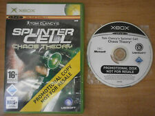 SPLINTER CELL CHAOS THEORY PROMO (PAL) - MICROSOFT XBOX *BEST OFFER* *TRACKED*
