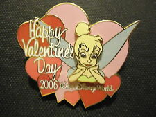 DISNEY WDW HAPPY VALENTINE'S DAY 2006 TINKER BELL PIN LE 3000