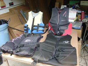 2 - Neoprene Water Ski Vests - Ladies S, Men's S, Youth 50-90, Youth 30-50