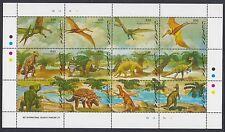 Guyana: 1993 animales prehistóricos Sheetlet SG3515-26 Estampillada sin montar