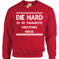DIE HARD MOVIE Mens funny xmas sweatshirt gift present christmas jumper novelty