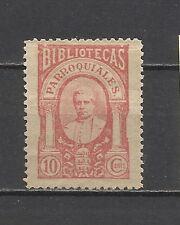 4091- SELLOS FISCAL O VIÑETA  BIBLIOTECAS PARROQUIALES SIGLO XIX.10 CENTIMOS.