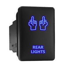 Rear Lights Blue Led Backlit Switch Short Push Button 128x 087 Fit Toyota