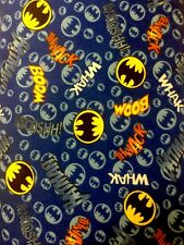 Camelot DC comics Whack Boom Batman 100% cotton FLANNEL fabric by the yard