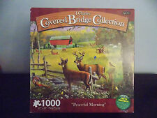 J. Charles Covered Bridge Collection Peaceful Morning 1000 Pc Puzzle 100% Com.