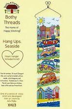 BOTHY THREADS HANG UPS SEASIDE BEACH HUTS CROSS STITCH KIT WITH HEART HANGER