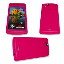 Silikon TPU Handy Cover Case in Neon Pink für Sony Ericsson Xperia Arc  - Arc S
