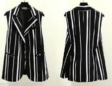Polyester Hand-wash Only Striped Vests for Women