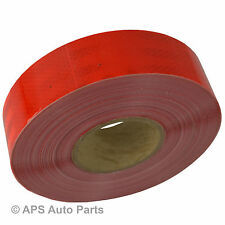 Conspicuity Red Tape Diamond Reflective 50mm x 50m Truck Lorry Van Bus Trailer
