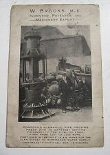 BROOKS INVENTOR ANTIQUE POSTCARD-SIZED ADVERTISING MUNITIONS TANJONG PAGAR ETC*