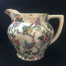 LORNA DOONE CHINTZ JUG ROYAL TUDOR ANTIQUE ENGLISH PORCELAIN - ESTATE PIECE