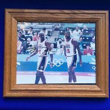 RARE USA Olympic Michael Jordan Magic Johnson Basketball NBA Signed Photo 2A83