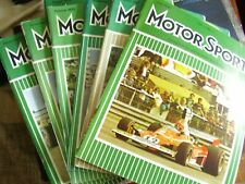 VINTAGE JOB LOT X 6  1975 MOTOR SPORT CAR AUTO MAGAZINES MOTORING