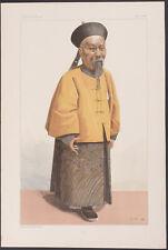 Vanity Fair - Li Hung Chang. 1033 - 1896 - Colored Lithograph Original Rare