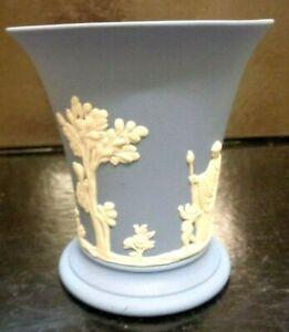 Vintage Wedgewood Jasperware Trumpet Vase with Classical Design 3.8 Inch