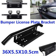 Front Bumper License Plate Mount Bracket Led Work Light Holder Offroad for Car