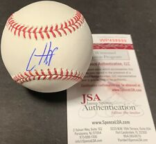 Ian Happ Chicago Cubs Autographed Signed Baseball JSA WITNESS COA IMPERFECT