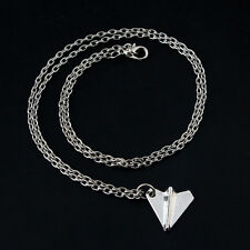 Unisex Harry Paper Airplane Pendant Silver Chain Charm Necklace Jeweley Gift US