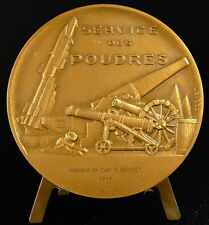 Médaille à R Brichet Service des Poudres sc Cochet Canon gunpowder medal