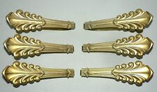 Vtg Gold Plastic Wall Mount Curtain Tie Backs Lot of 3 Sets